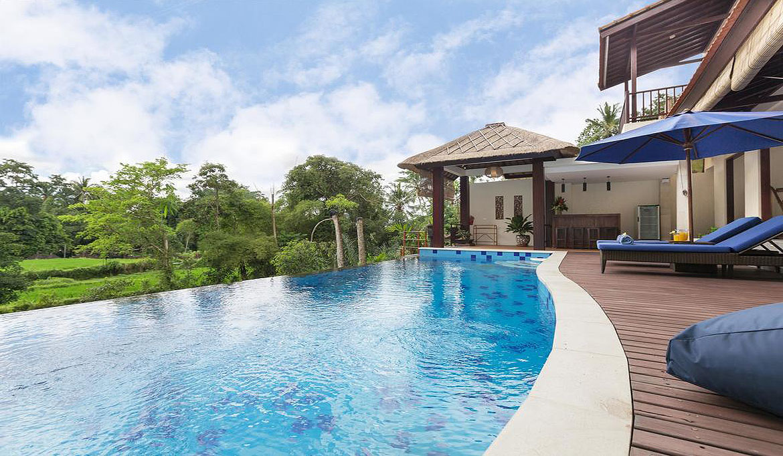 Villa Atap Padi 4 Bedrooms Bali Villas Big Swimming Pool Jungle Views Private Villa Near Ubud Central